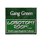 Gang Green Throw Blanket
