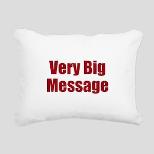Very Big Custom Message Rectangular Canvas Pillow