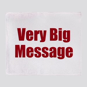 Very Big Custom Message Throw Blanket