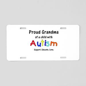 Grandma Autism Aluminum License Plate