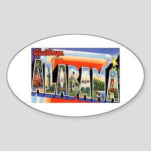 Alabama Greetings Oval Sticker