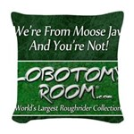 We're From Moose Jaw Woven Throw Pillow