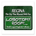 Regina Rhymes With Fun Square Car Magnet 3