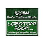 Regina Rhymes With Fun Throw Blanket