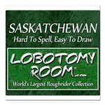 Saskatchewan Square Car Magnet 3