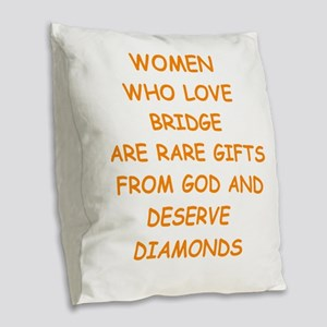 BRIDGE Burlap Throw Pillow