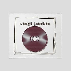 VINYL JUNKIE Throw Blanket