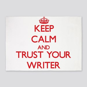 Keep Calm and trust your Writer 5'x7'Area Rug