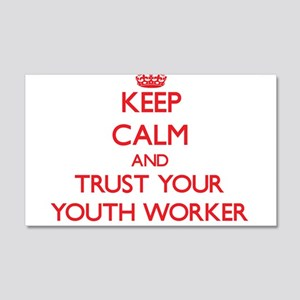 Keep Calm and trust your Youth Worker Wall Decal