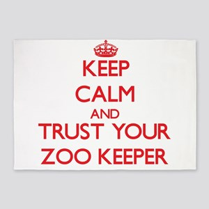 Keep Calm and trust your Zoo Keeper 5'x7'Area Rug