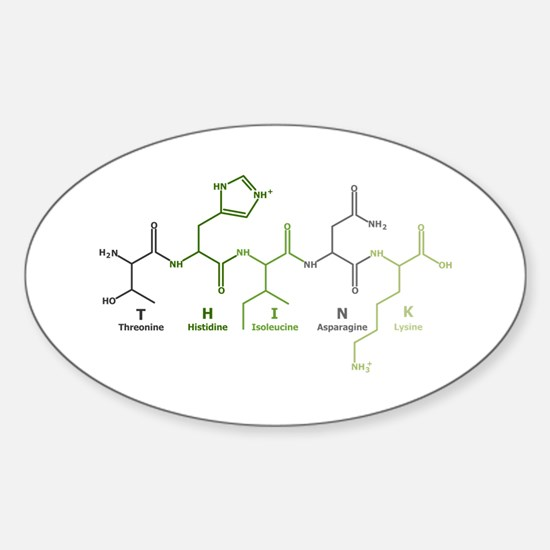Think Peptide Oval Decal