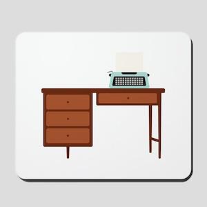 Vintage Desk and Typewriter Mousepad