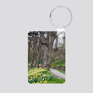 Daffodils in Bute Park Aluminum Photo Keychain