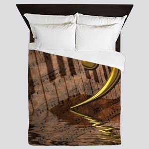Bass Clef Composition Queen Duvet