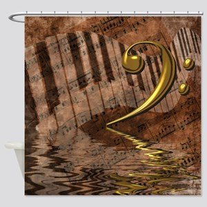 Bass Clef Composition Shower Curtain