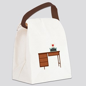 Love Writing Canvas Lunch Bag