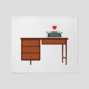 Love Writing Throw Blanket