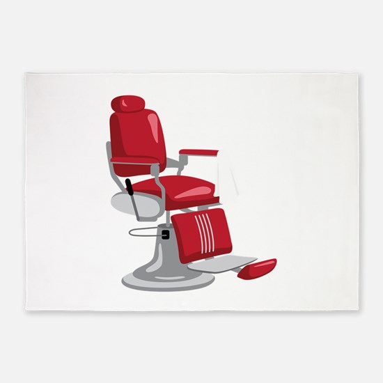 Barber Chair 5'x7'Area Rug