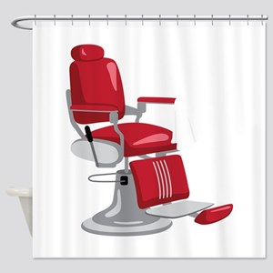 Barber Chair Shower Curtain