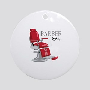 Barber Shop Ornament (Round)