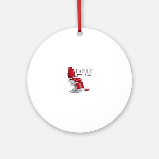 Barber Shop Ornament (Round)