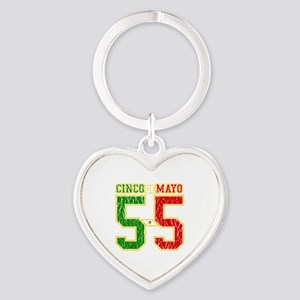 Cinco de Mayo Athletic Dept Heart Keychain