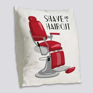 Save And A Haircut Burlap Throw Pillow