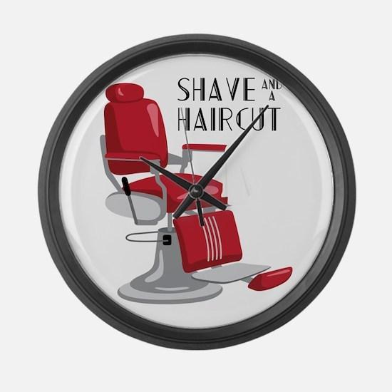 Save And A Haircut Large Wall Clock