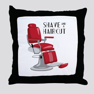 Save And A Haircut Throw Pillow
