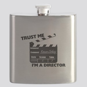 Trust Me I'm A Director Clapboard Flask