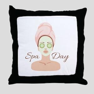 Spa Day Throw Pillow