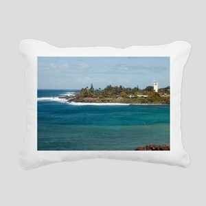 waimea beach park Rectangular Canvas Pillow
