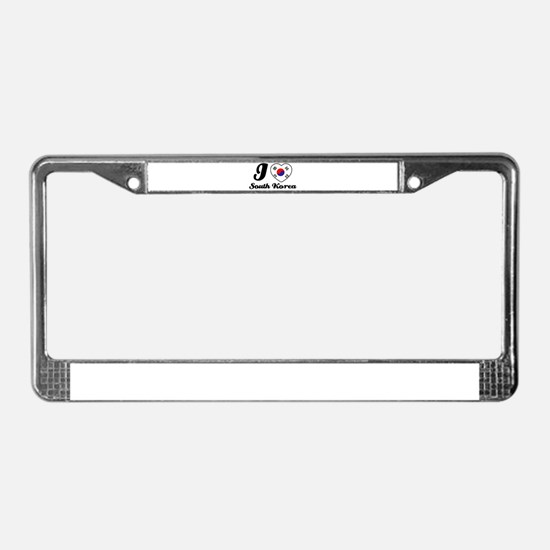 I love South Korea License Plate Frame