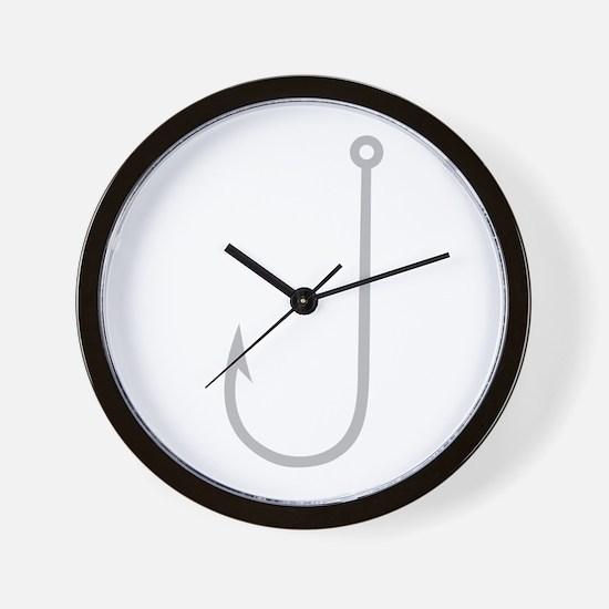 Fish Hook Wall Clock
