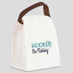 HOOKED On Fishing Canvas Lunch Bag