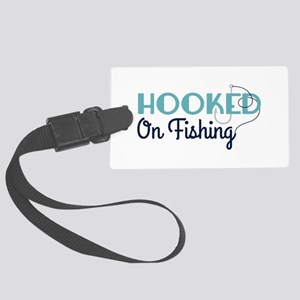 HOOKED On Fishing Luggage Tag