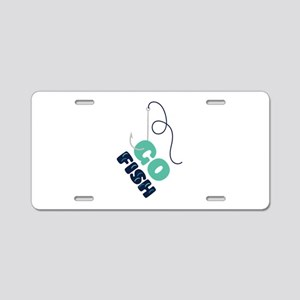 GO FISH Aluminum License Plate