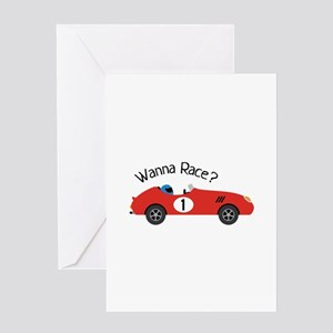 Race Car Birthday Greeting Cards