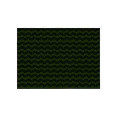 dark green area rugs green blue dark green chevron waves 5x7area rug area rugs cafepress