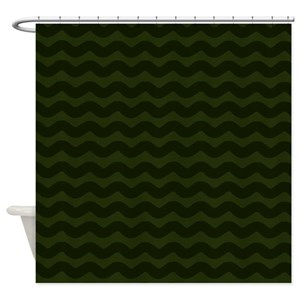 Dark Green Shower Curtains