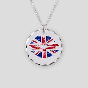UK Flag Union Jack Lips Necklace