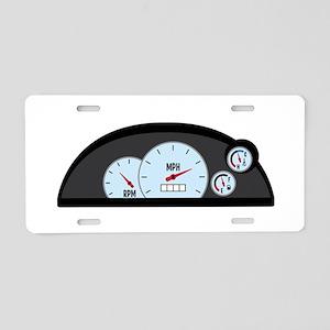 Race Car Dashboard Aluminum License Plate