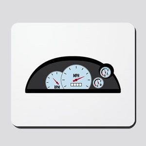 Race Car Dashboard Mousepad