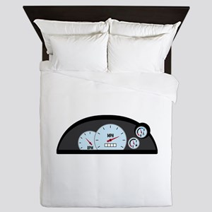Race Car Dashboard Queen Duvet