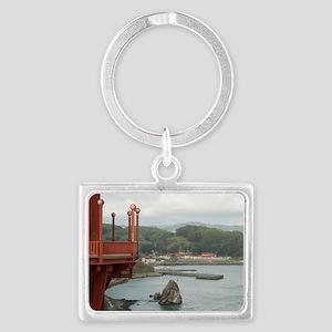 Travis marina sausalito Landscape Keychain