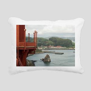 Travis marina sausalito Rectangular Canvas Pillow
