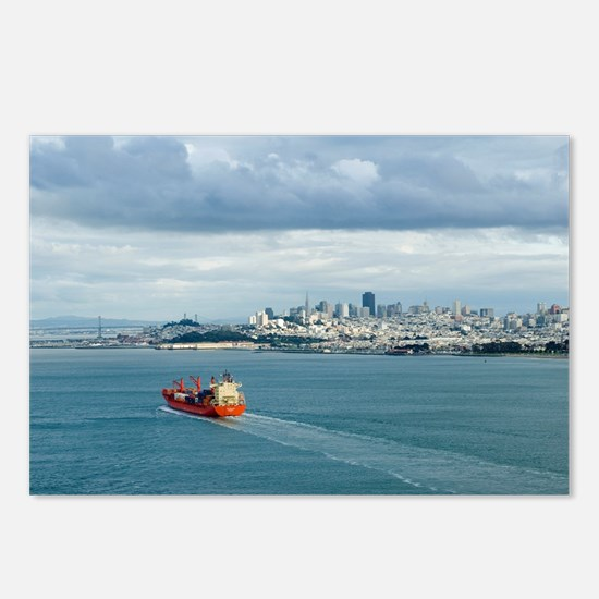 container ship Postcards (Package of 8)