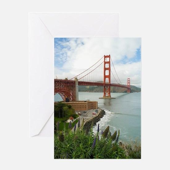 golden gate bridge south Greeting Card