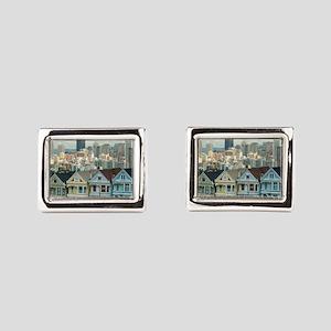 Alamo Square painted ladies Rectangular Cufflinks