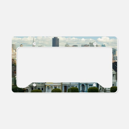 Alamo Square painted ladies License Plate Holder